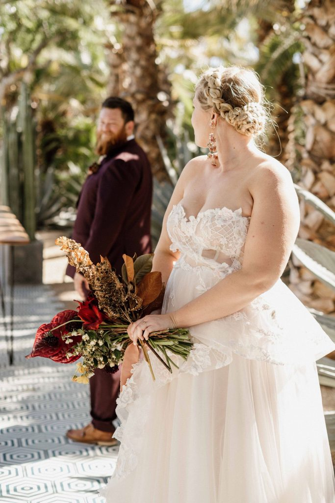a couple who hired a full wedding planning package for their wedding