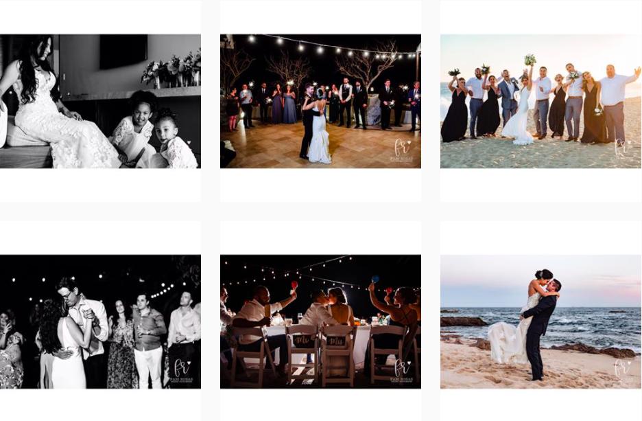 Fabi Rosas Cabo Wedding Photographer Instagram Profile