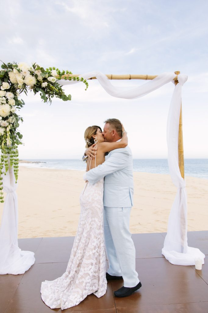 Partial wedding planning package hired by a couple getting married in Los Cabos